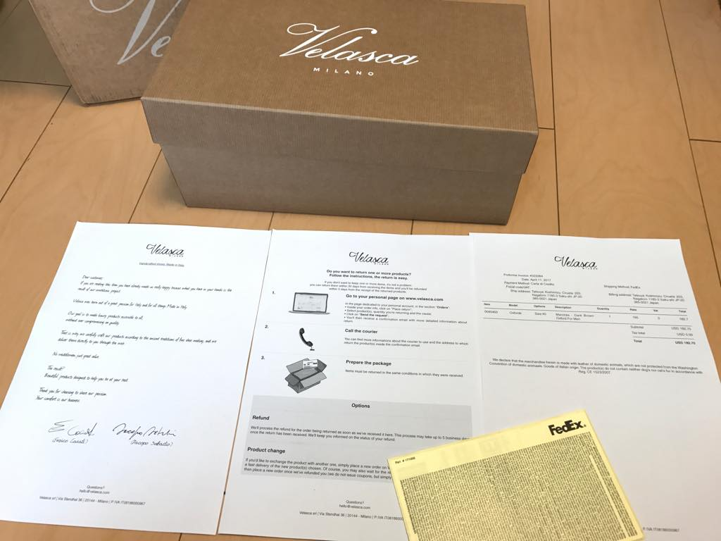 velasca-package-contents